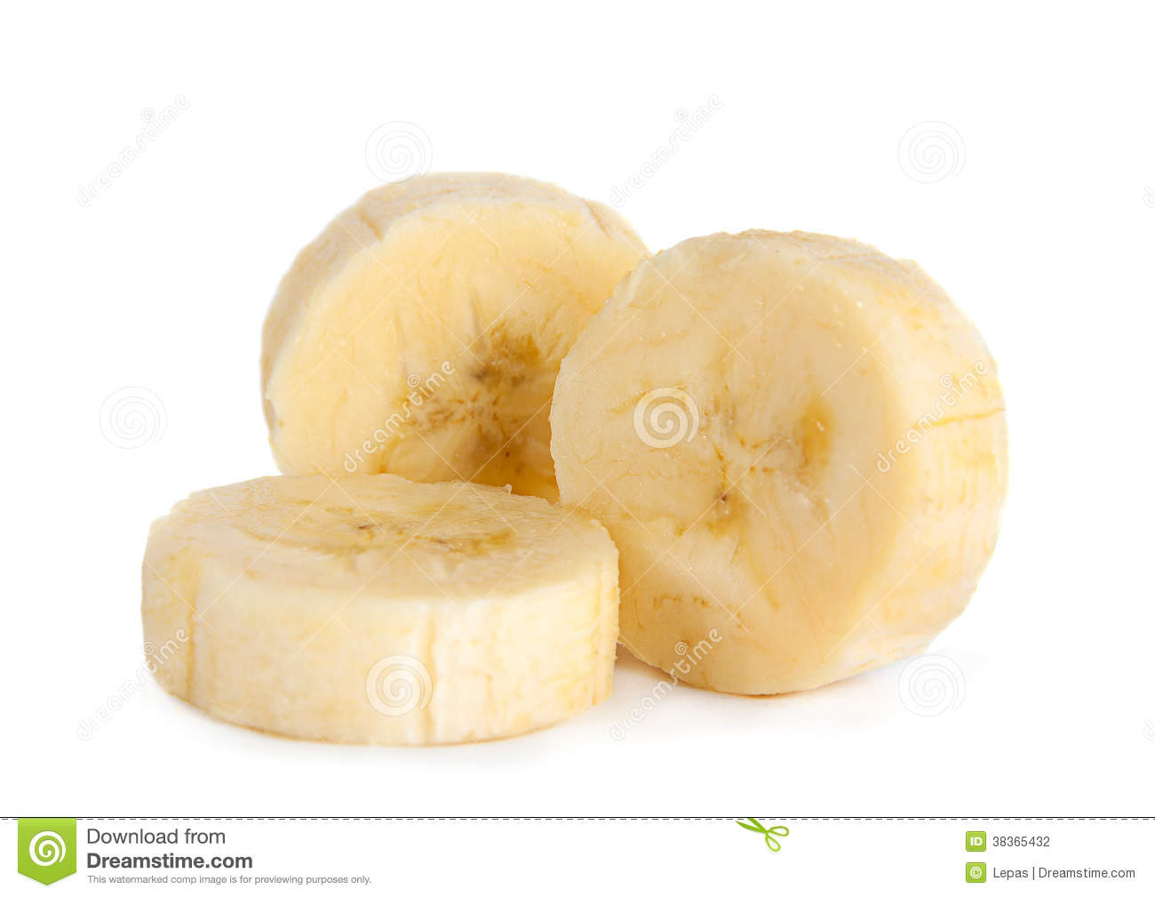 Banana slice closeup stock photo. Image of food, tropical.