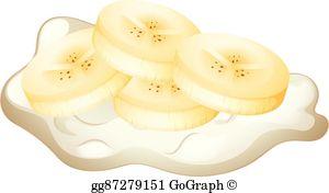 Banana Slices Clip Art.