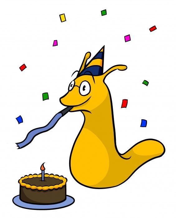 Sammy the Slug Turns 25.
