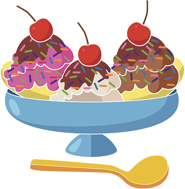 Best Banana Split Illustrations, Royalty.
