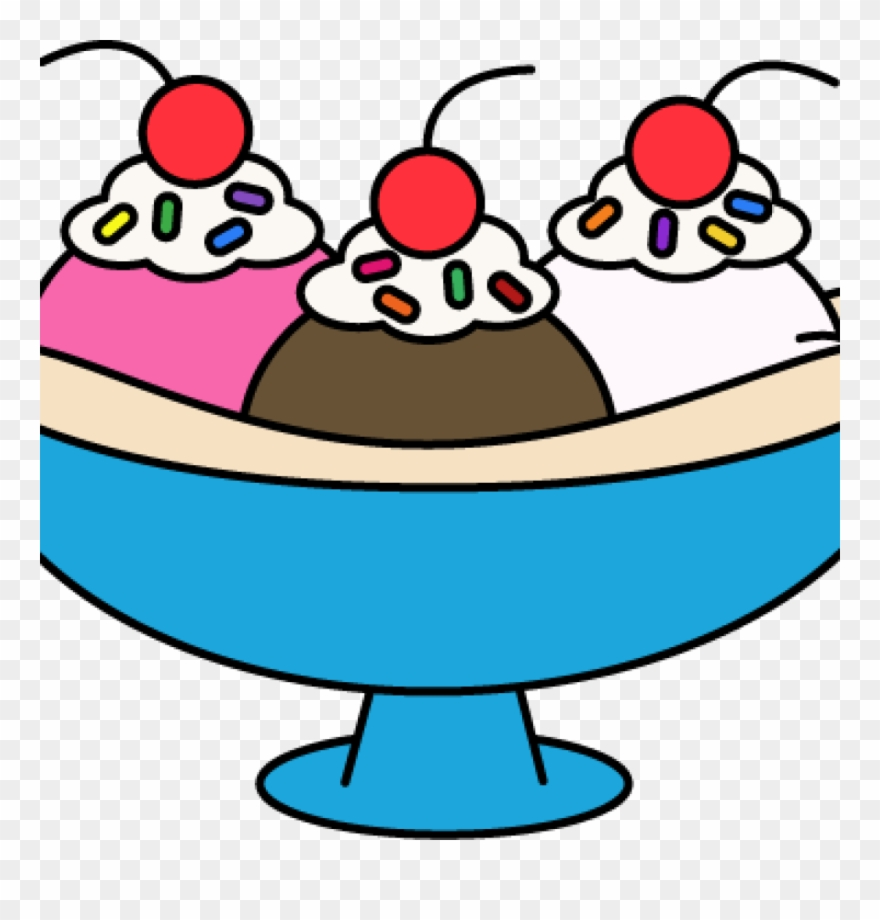 Png Transparent Library Ice Cream Sundae Vector.