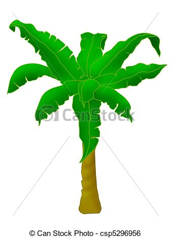 Stock Illustration of Banana tree.