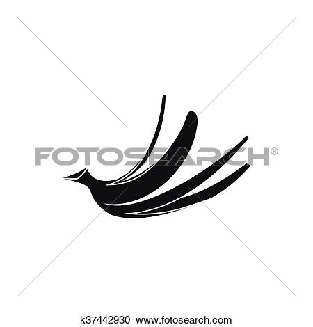 Clipart of Banana peel icon, simple style k37442930.