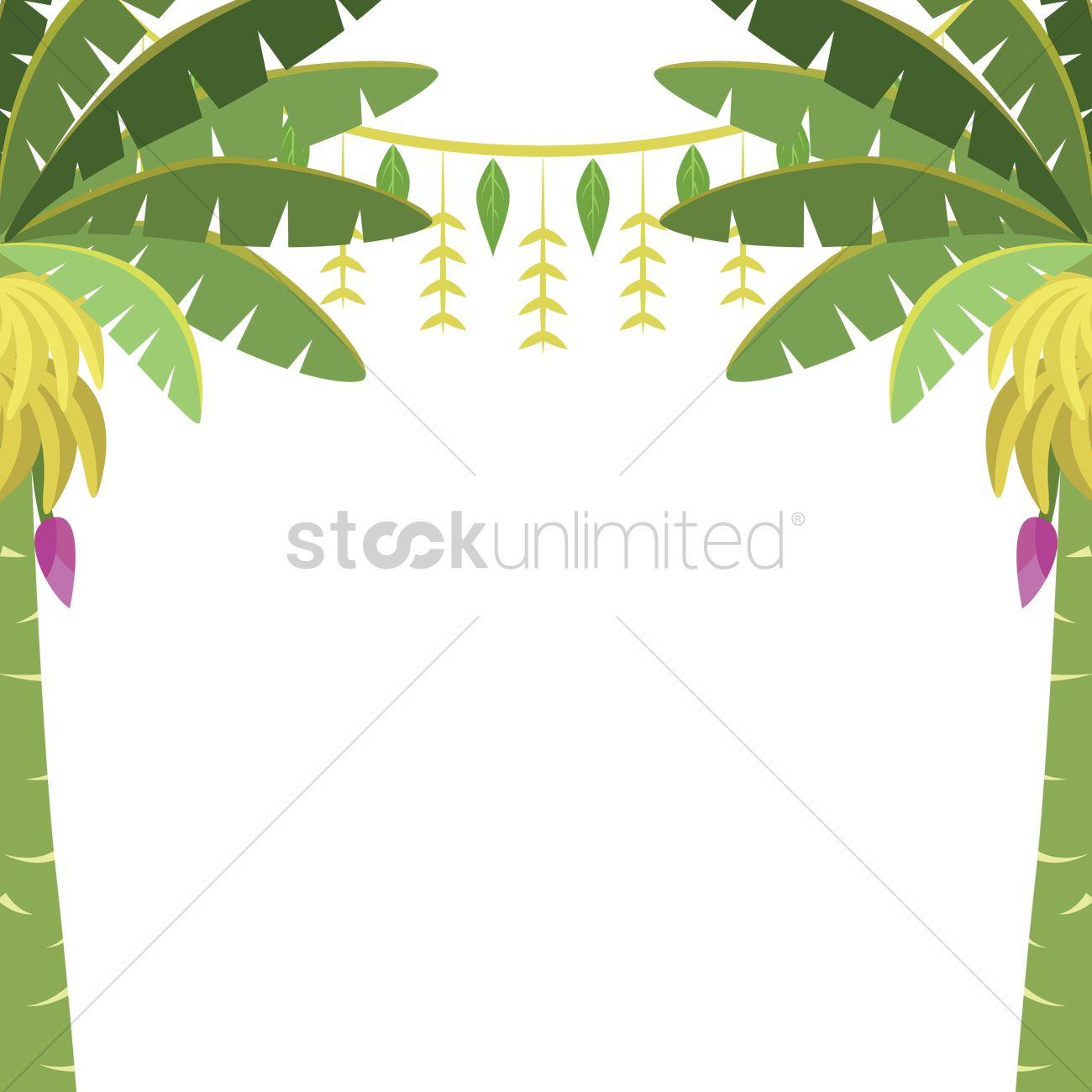 Banana trees with toran Vector Image.