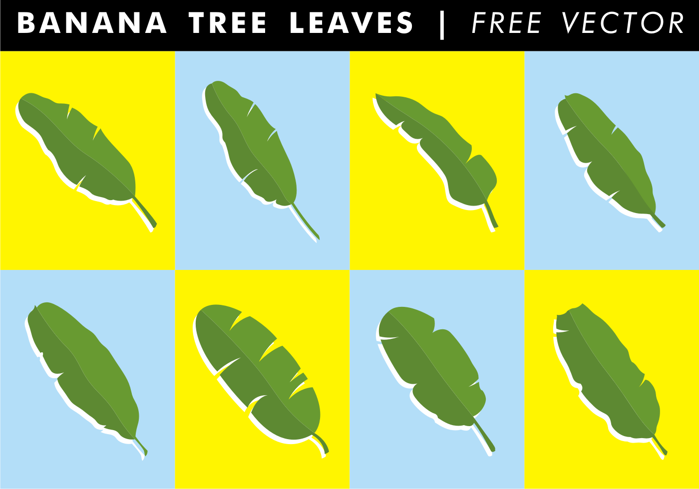 Banana Leaf Free Vector Art.