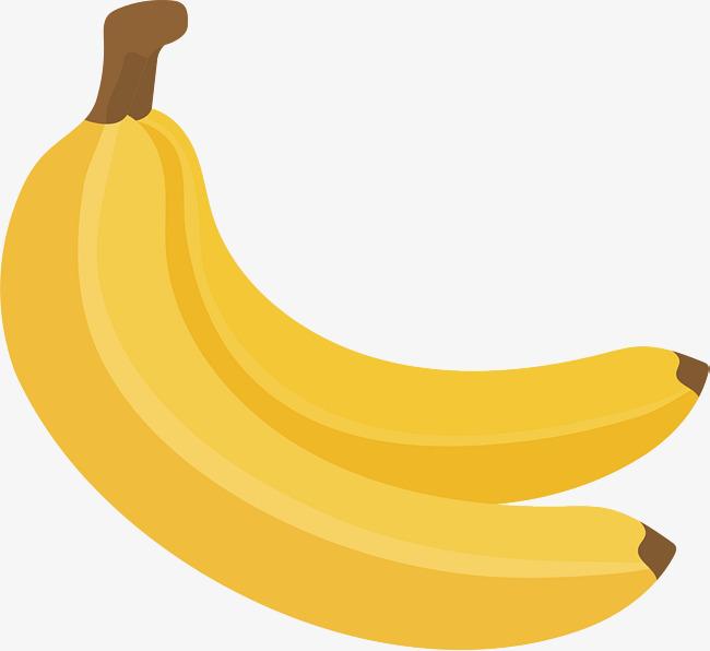 Two Yellow Bananas, Vector Png, Banana, Two Bananas PNG and Vector.