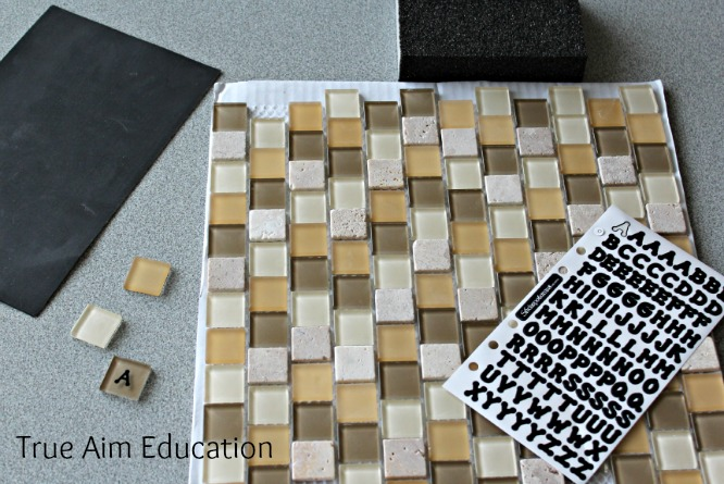 DIY Bananagrams: Letter Tiles.