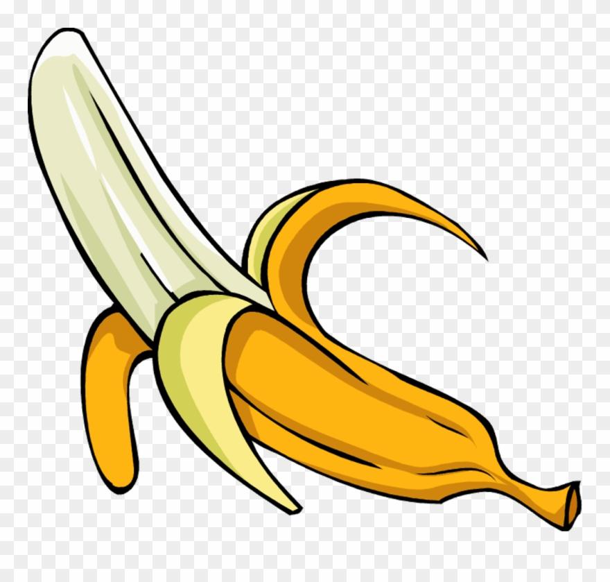 Banner Royalty Free Stock Bananas Clipart Peeled Banana.