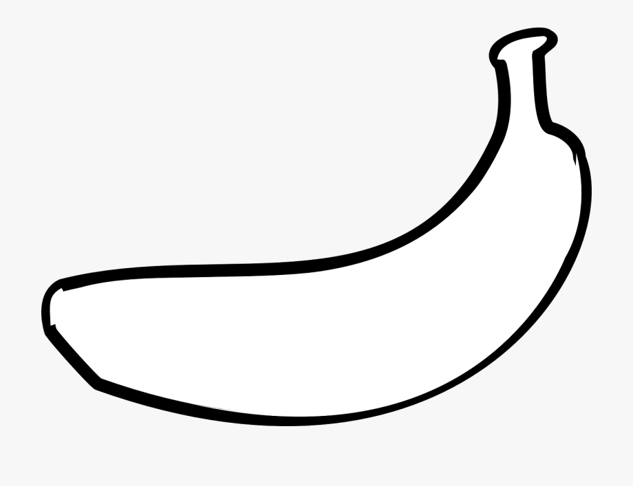 Banana Fruit Outline.