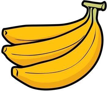 Banane 8 cliparts, kostenlose clipart.