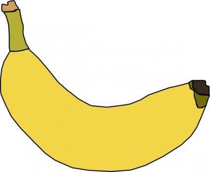 Kostenlose Clipart und Vektorgrafiken für Banane.