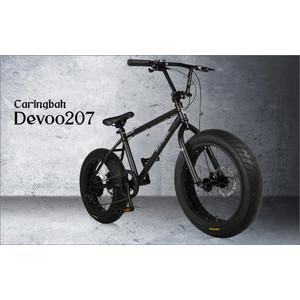ファットバイク 20インチ 本体 自転車 ビーチクルーザー 7段変速.