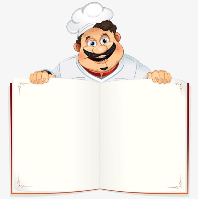 Hand Painted Cartoon Chef, Cartoon Clipart, Chef Clipart.