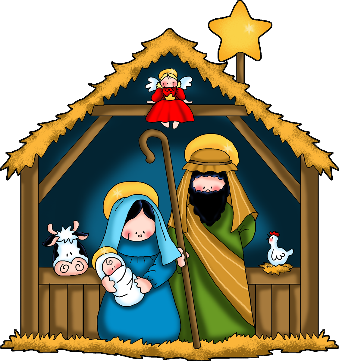 the nativity children free clip art.