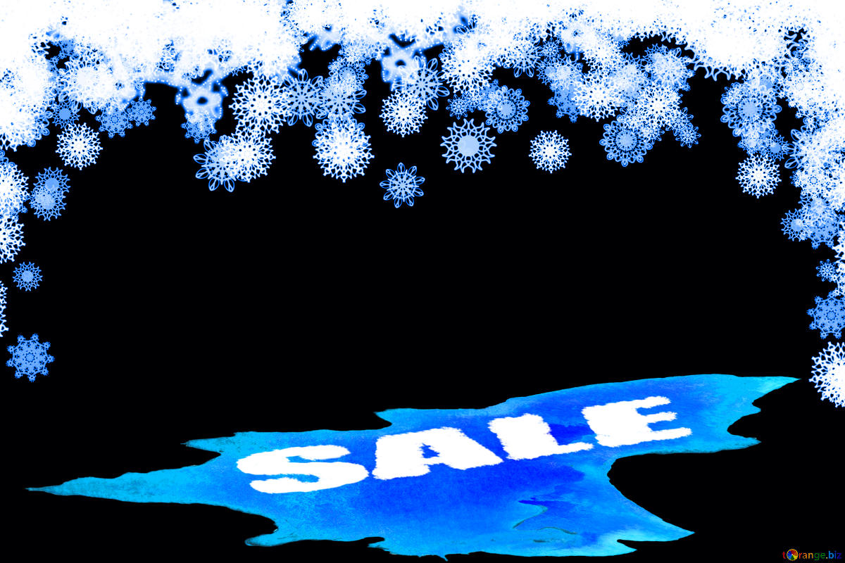 Descargar foto gratis Clipart snowflakes frame Winter sale.