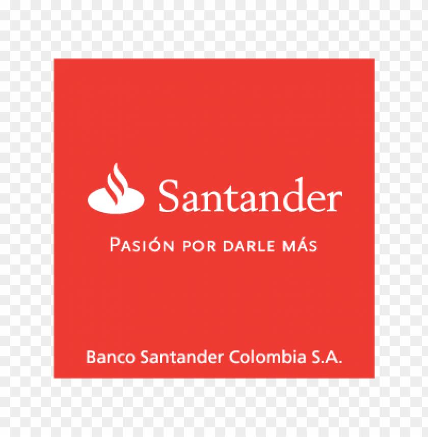 banco santander colombia logo vector.