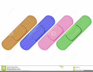 Band Aids Clipart.
