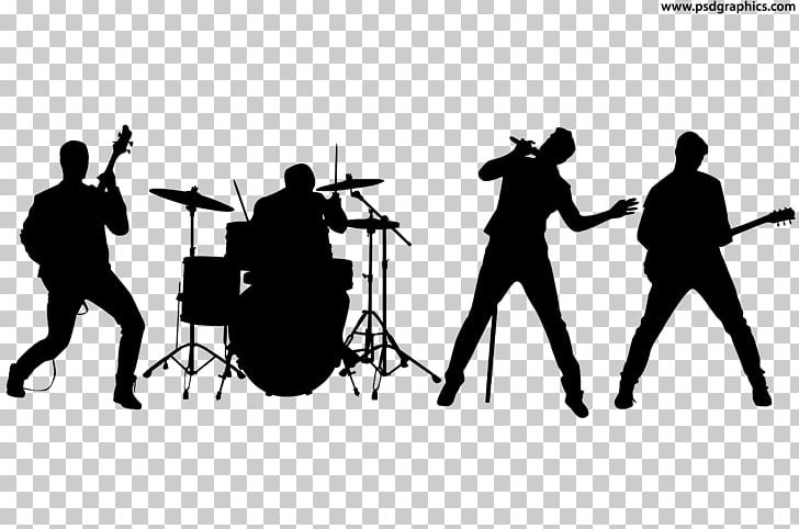 Rock Band Silhouette Musical Ensemble PNG, Clipart, Angle.