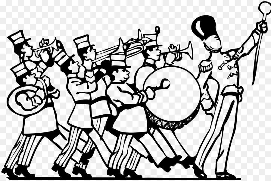 Marching Band Clipart Black And White.