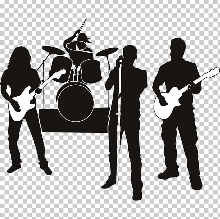 Rock Band Musical Ensemble Silhouette Graphics PNG, Clipart.