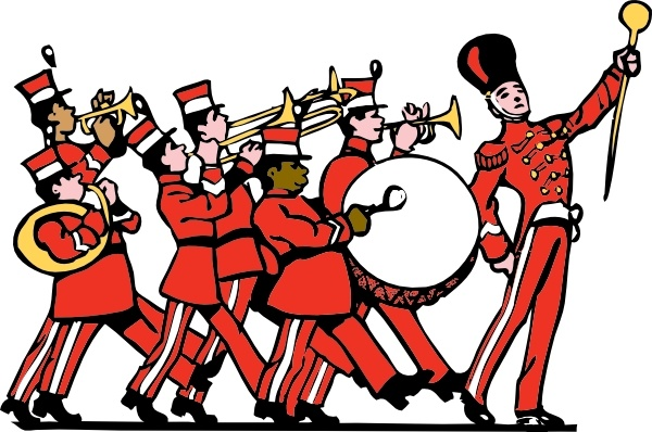 Marching Band clip art Free vector in Open office drawing svg ( .svg.