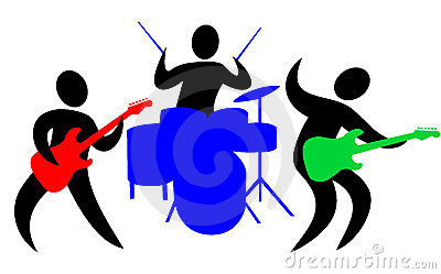 Rock band clip art.