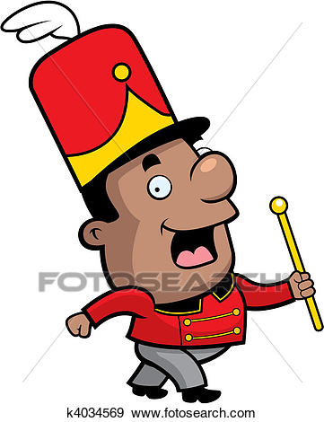 Marching Band Conductor Clip Art.