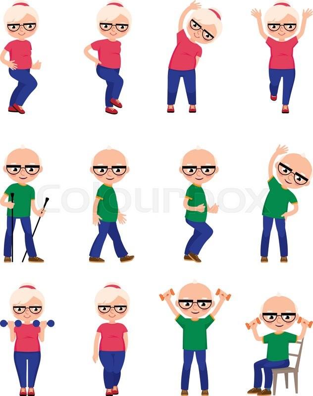 Set Elderly people do different sports.