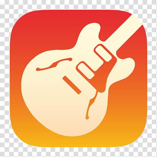 ILife icons, Garage Band, white guitar icon transparent.
