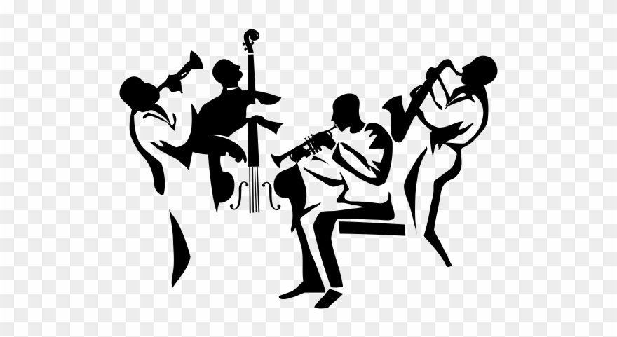 Music Silhouette, Music Wall, Jazz Poster, Jazz Band,.