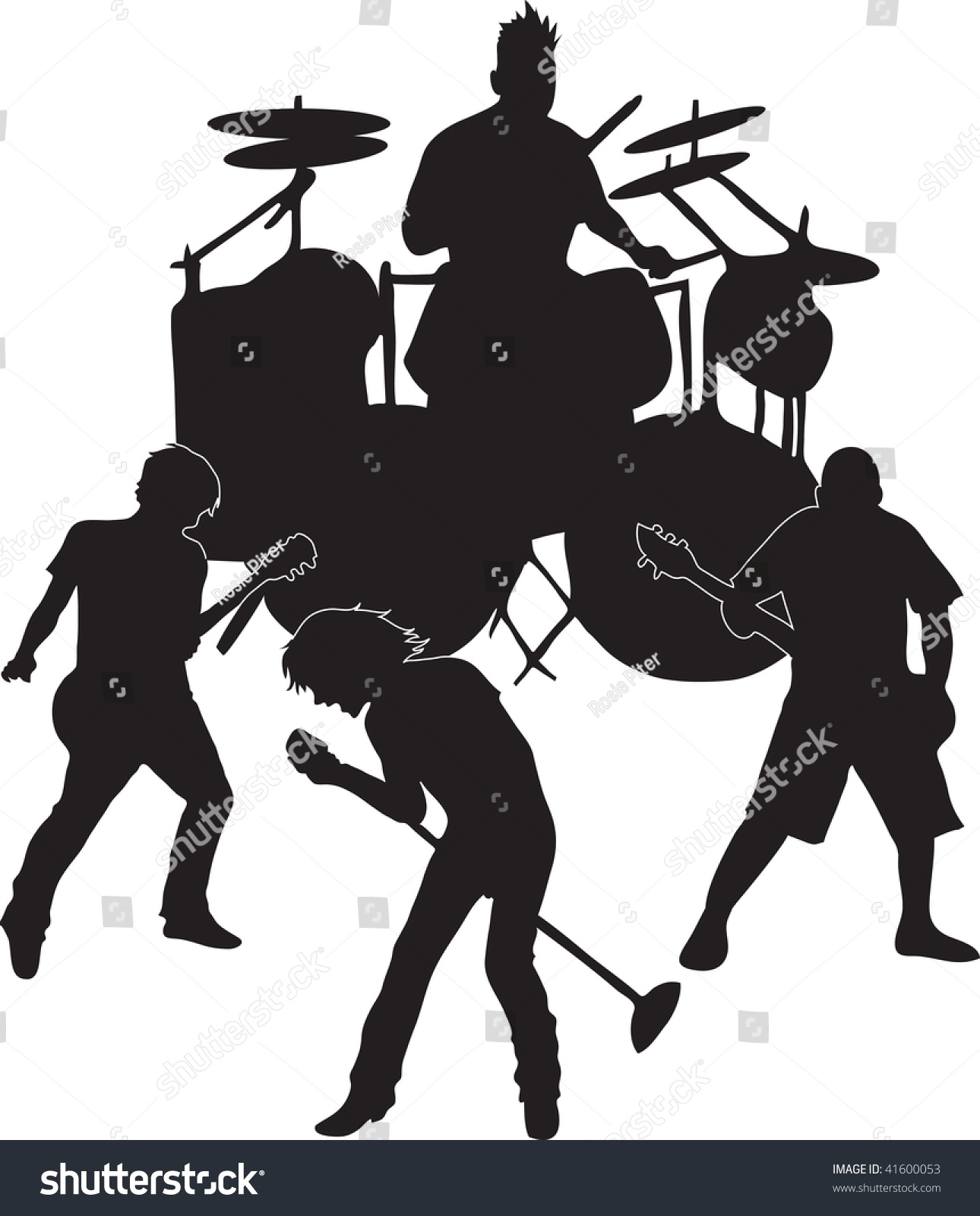Band Clipart Black And White.