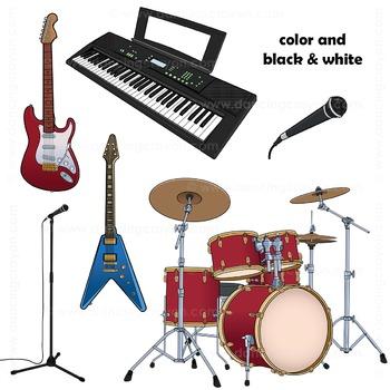 Musical Instruments Clip Art: Rock Band Clipart.