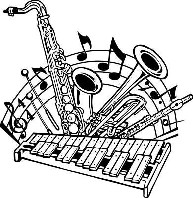 Marching band instruments clipart 7 » Clipart Portal.