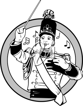 Marching Band Leader clipart images and royalty.