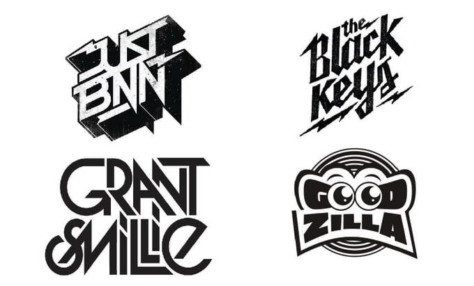 do dope dj, music band, artist logo designs.