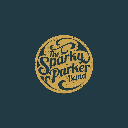 Create a vintage style band logo for blues band.