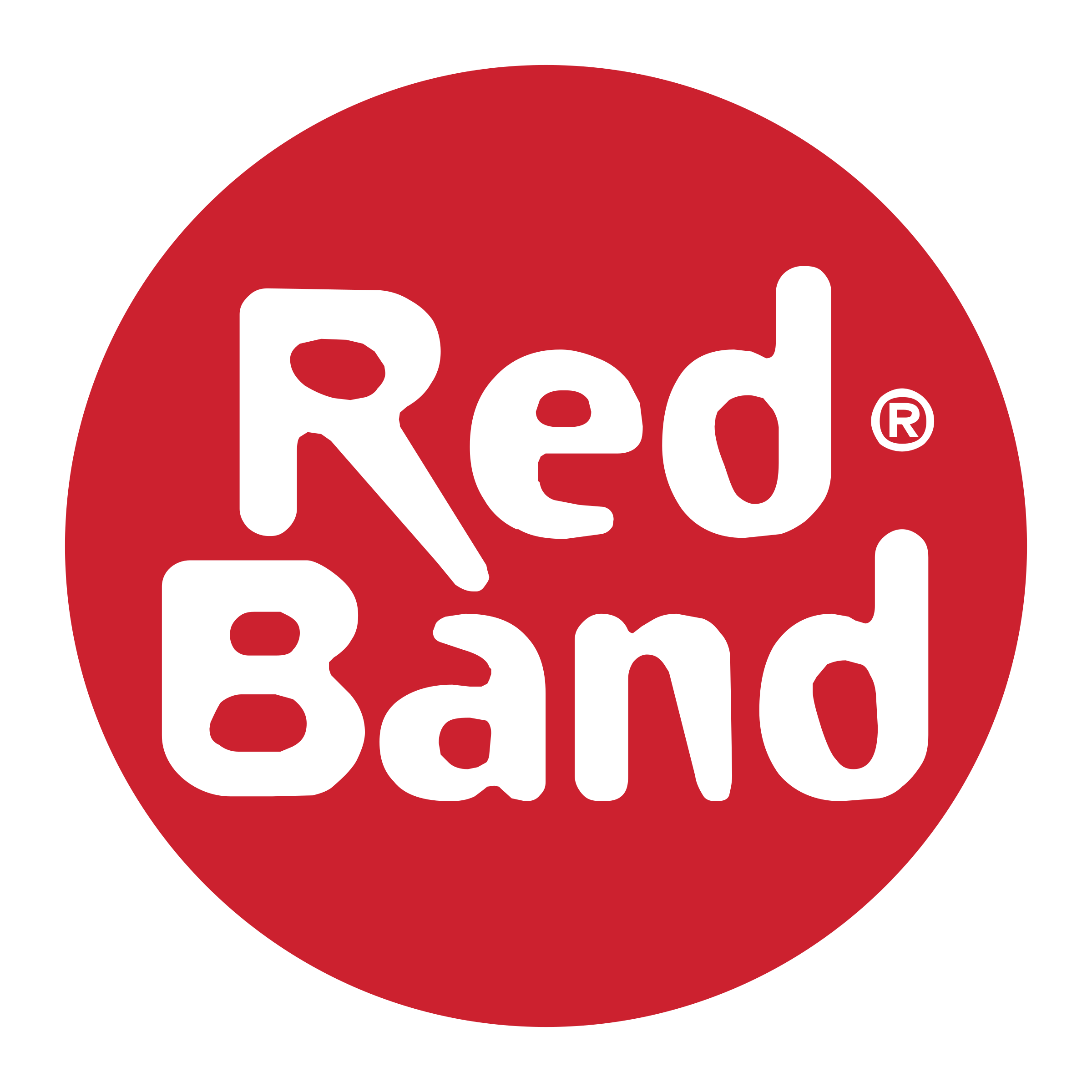 Red Band Logo PNG Transparent & SVG Vector.