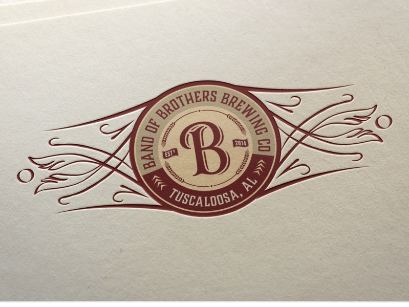 Logo for Band of Brothers Brewing Co. by maestro_medak on.