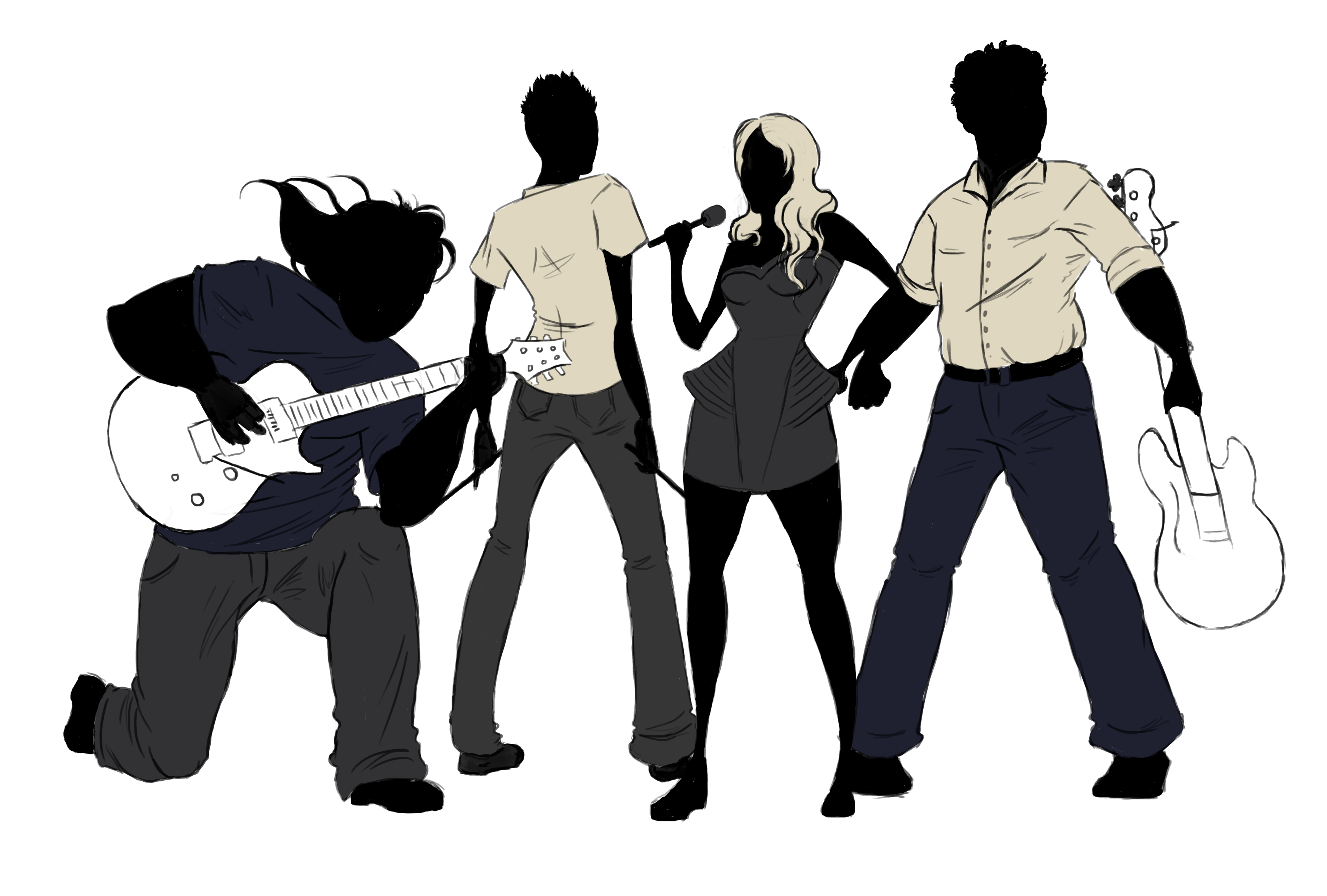 Music Band PNG Transparent Images.