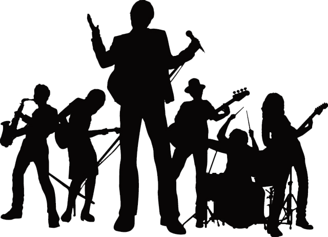 Band Silhouette PNG Free Image.