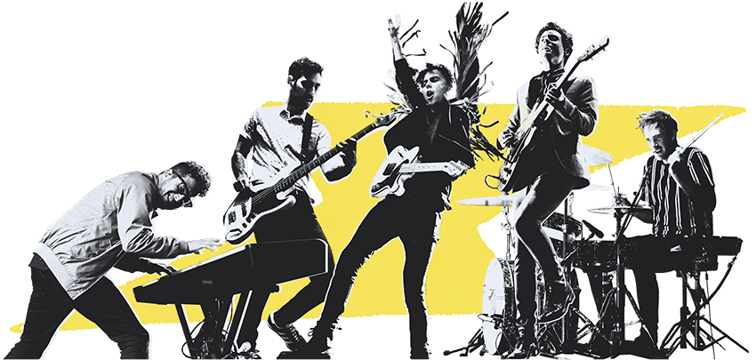 Music Band PNG Picture.