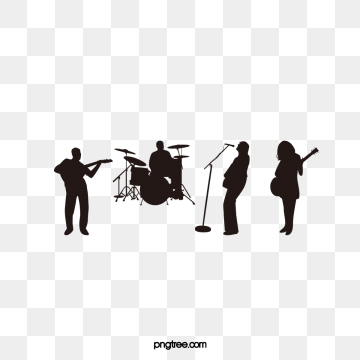 Band Silhouette PNG Images.