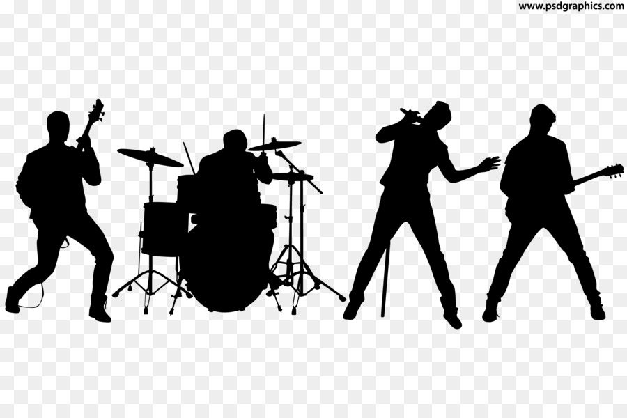 Rock Band Silhouette Musical Ensemble.