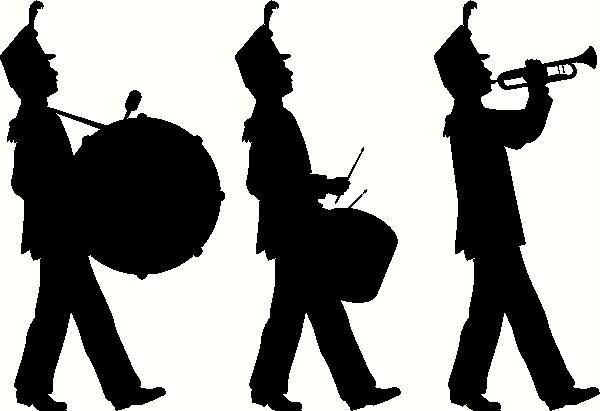 Marching Band Silhouette Clip Art.
