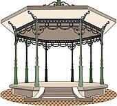 Bandstand Clip Art.
