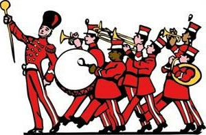 High school marching band clipart kid.