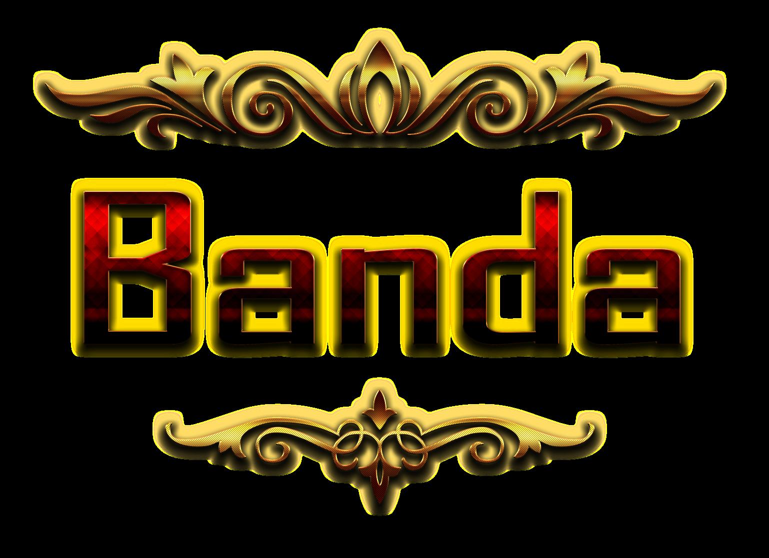 Banda Name Logo Bokeh PNG.