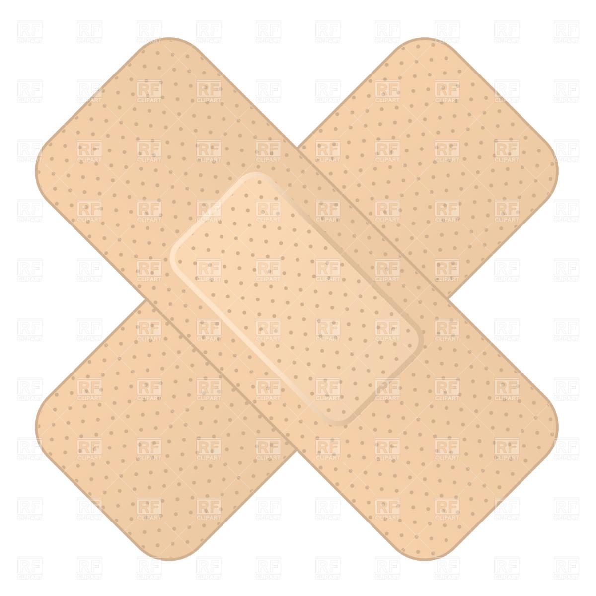 Crossed bandage Stock Vector Image.