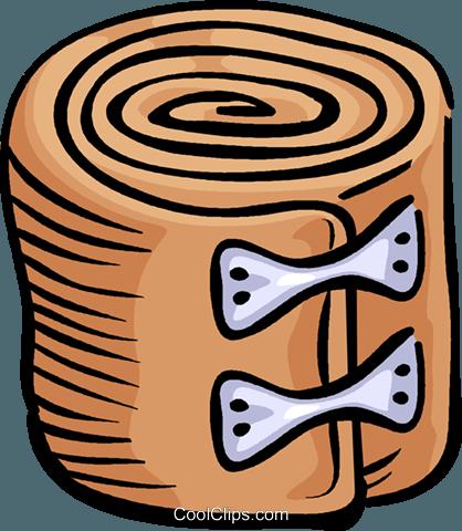 tensor bandage Royalty Free Vector Clip Art illustration.