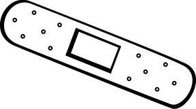 Adhesive Bandage Vector Stock Illustrations.